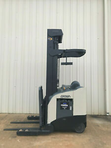 2005 Crown Rr 5200 Narrow Aisle Reach Truck Forklift 270 Only 8576 Hours