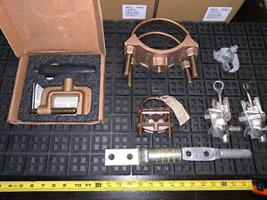 8 Qty Mix Lot Tweco Gc 600 dbp Ground Clamp Ford Bronze Double Strap 202b 27719