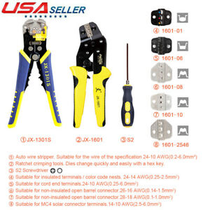 Professional Ratchet Terminal Crimper Wire Cord Crimping Pliers Stripper Tool
