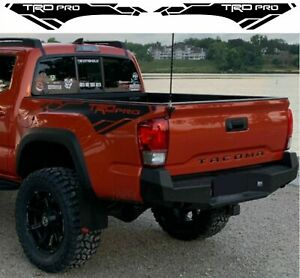 Toyota Tacoma Trd Pro 2016 2020 Side Bed Vinyl Decals Graphics Rally Stickers