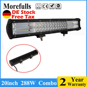 3row 288w 20inch Led Light Bar Work Light Combo For 4x4 Atv Utv Truck Off Road