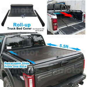 Retractable roll up Hard Tonneau Cover For Ford F 150 5 5ft Bed 2010 2020