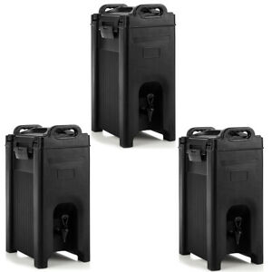 3 Pack Insulated Beverage Server dispenser 5 Gallon Hot Cold Drinks W Handles