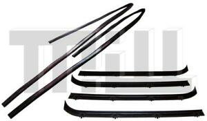 Inner Outer Window Channel Weatherstrip Kit L R Side For 75 95 Chevy Vans