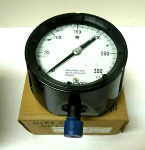 Ashcroft Gauge 4 1 2 Face 0 300 Psi 1 2 Npt Monel K500 Duragauge