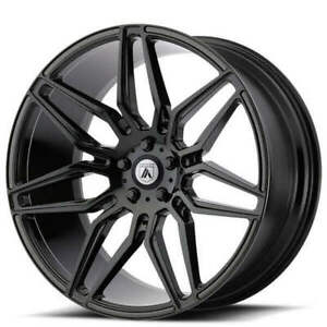 4 20 Staggered Asanti Wheels Abl 11 Sirius Gloss Black Rims b2