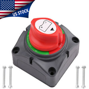 4 position Battery Isolator Disconnect Rotary Switch Cut For Marine Boat Car