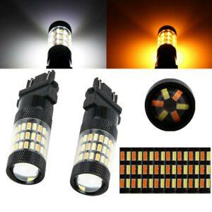White Amber Switchback Led Turn Signal Light Bulbs For Chevy Silverado 1500 2500