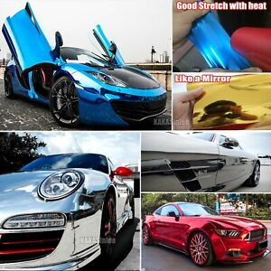 Smooth Car Mirror Chrome Vinyl Wrap Decal Decors Film Sticker Bubbles Free Abus