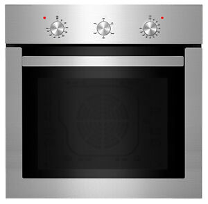 Empava 24 Electric Single Wall Oven Stainless Steel Built in Knobs Control a01