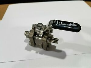 Swagelok Ss 62ts4 Manual Stainless Steel 2 way 1 4 Ball Valve