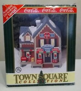 Vintage 1996 Coca Cola Town Square Collection Carlson's General Store Christmas