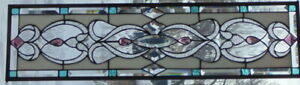 Stained Glass Window Transom Or Sidelight Hanging 36 1 4 X 10 1 2
