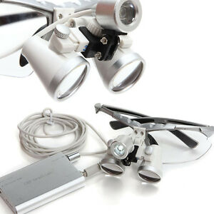 Dental Surgical Medical Binocular Loupes 3 5x 420mm Led Head Light Lamp Usa Fast