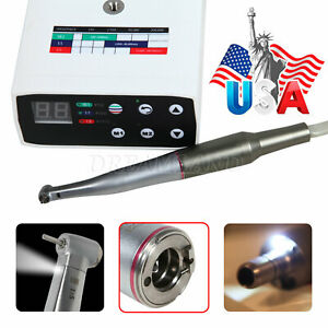 Dental Brushless Led Electric Micromotor W 1 5 Fiber Optic Contra Angle Fit Nsk