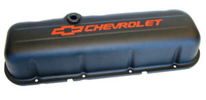 Proform 141 811 Big Block Chevy Stamped Steel Tall Black Valve Covers Pair