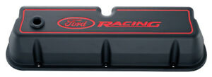 Proform 302 003 Aluminum Valve Covers Sbf Tall Black Ford Racing Logo