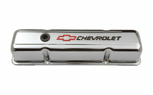 Proform 141 905 Small Block Chevy Tall Steel Chrome Perimeter Bolt Valve Covers