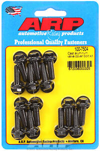 Arp 100 7504 Valve Cover Bolt Kit Black Hex Head 14pc 812 Uhl Bbc Ford