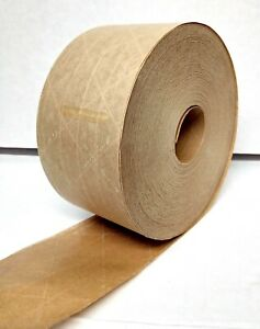 2 75 X 375 Ft Reinforced Kraft Gummed Paper Tape Brown 70mm Wide 3 450