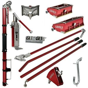 Drywall Taping Finishing Set W Automatic Taper 10 12 Flat Boxes