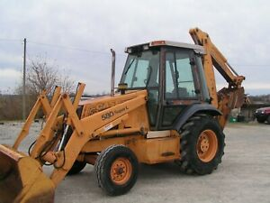 Case 580 Super L Backhoe 2 Wheel Drive Enclosed Cab A c Price Reduced