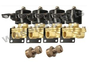 Air Ride Suspension 4 1 2 Npt Valves W Mount Adjustable Slow Down Fittings