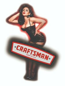 Craftsman Tool Sticker Glow Girl Sexy Decal Mechanic Toolbox Sign Chest Usa