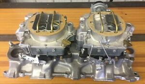 Vintage 1956 57 245 Hp Corvette Restored Intake And Carburetors Free Shipping