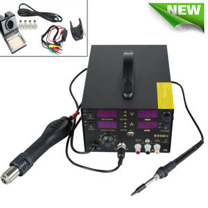 Us Electric Soldering Station Hot Air Rework Heat Gun Solder Iron Weldingtool Ce
