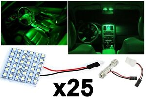 25x T10 Festoon 36 smd Ultra Green Led Panel Interior Dome Map Replacement Light