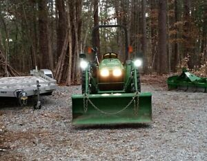 Led Flood Pattern Auxiliary Lights Kit For John Deere Tractor Mower Etc