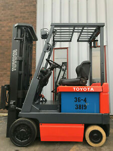 2001 Toyota 5fbcu15 3000lb Electric Forklift Lease 165 month