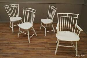 Boston Windsor Birdcage By Hagerty Shaped Seat Stylized Bamboo Set Of 4 Chairs