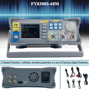 Fy8300 60m Dds Signal Generator Frequency Meter 3 Channel Function With 2 4 Tft