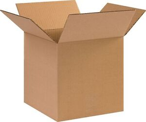 The Packaging Wholesalers 10 X 10 X 10 Shipping Boxes 44 Ect Brown Bs101010hd
