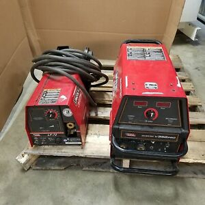 Lincoln Electric V350 pro Welder Lf 72 Feeder Used