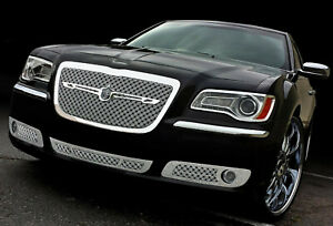 2011 2014 Chrysler 300 Chrome Mesh Grill Triple Weave Stainless Steel Grille