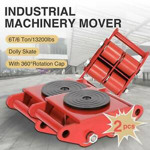 Machinery Mover 2pcs 6t Industrial Dolly Skate Straight Machine Rotation Cap