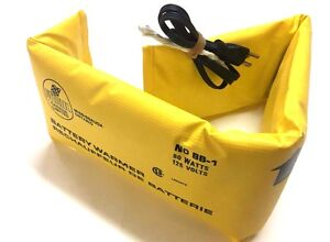 Car Battery Warmer blanket 80 Watts 125 Volts Pyroil Made In Canada 35 By 6