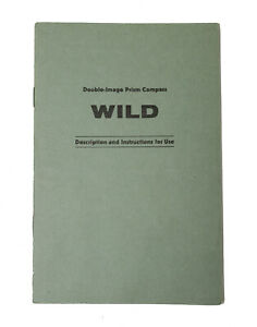 Original Users Manual For Wild Heerbrugg Prism Compass Level transit Surveying