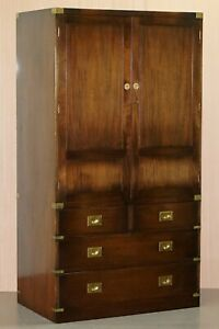 1 Of 2 Rrp 7999 Stunning Bevan Funnel Military Campaign Wardrobes With Drawers
