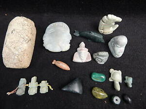 18 Pc Lot Precolumbian Mayan Paya Indian Honduras Sacrificial Artifacts