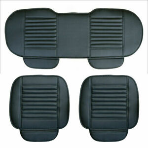 Car Seat Cover Protector Pu Front Seat Back Cushion Pad Mat For Car Truck Suv