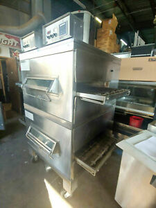 Middleby Marshall Ps224r68 Double Stack Gas Conveyor Pizza Oven Priced Cheap