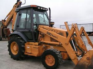 Case 580 Super L Backhoe 4x4 4n1 Front Bucket Extendhoe Cab 4100 Hrs