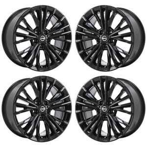 18 Nissan Maxima Gloss Black Wheels Rims Factory Oem 62722 Exchange