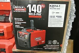 Lincoln Electric Weld pak 140hd K2514 1 Wire Feed Welder New Sealed