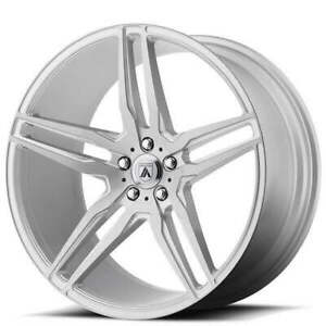 4 22 Staggered Asanti Wheels Abl 12 Orion Brushed Silver Rims b7