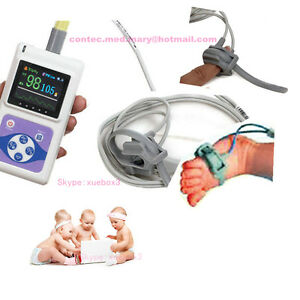 Neonatal Infant Pediatric Kids Born Pulse Oximeter Spo2 Monitor Pc Software Fda